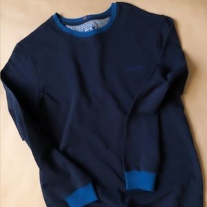 New! Ted Baker Color Block Navy Sweater.